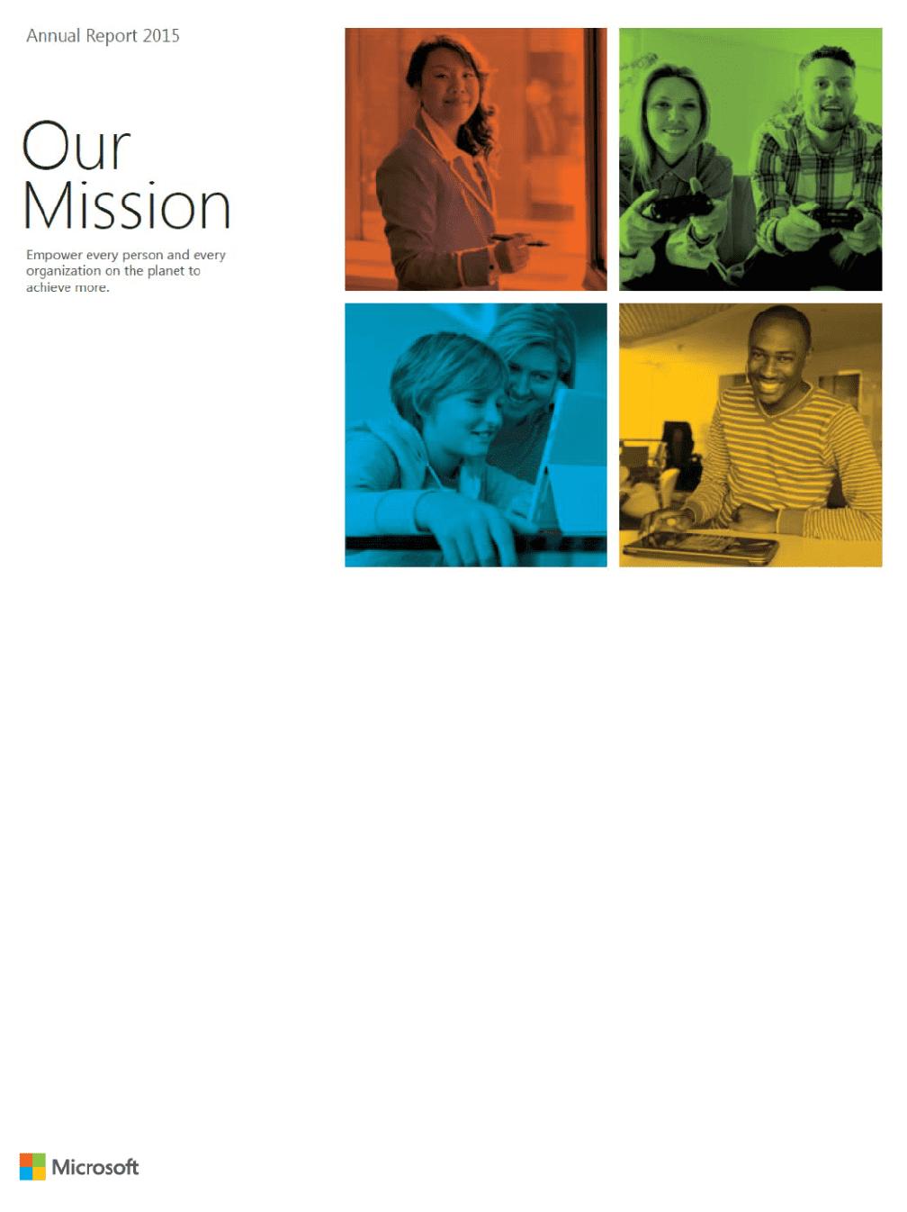 microsoft 2015 annual report download
